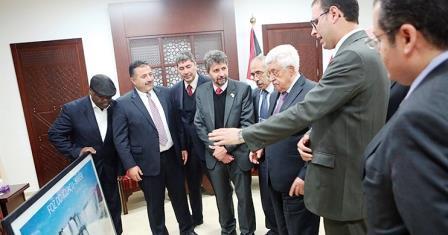 Presd.Mahmud Abbas recebe brasileiros da Missão de Solidariedade