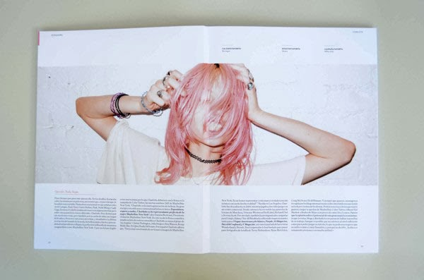 Young and Feminine magazine layout