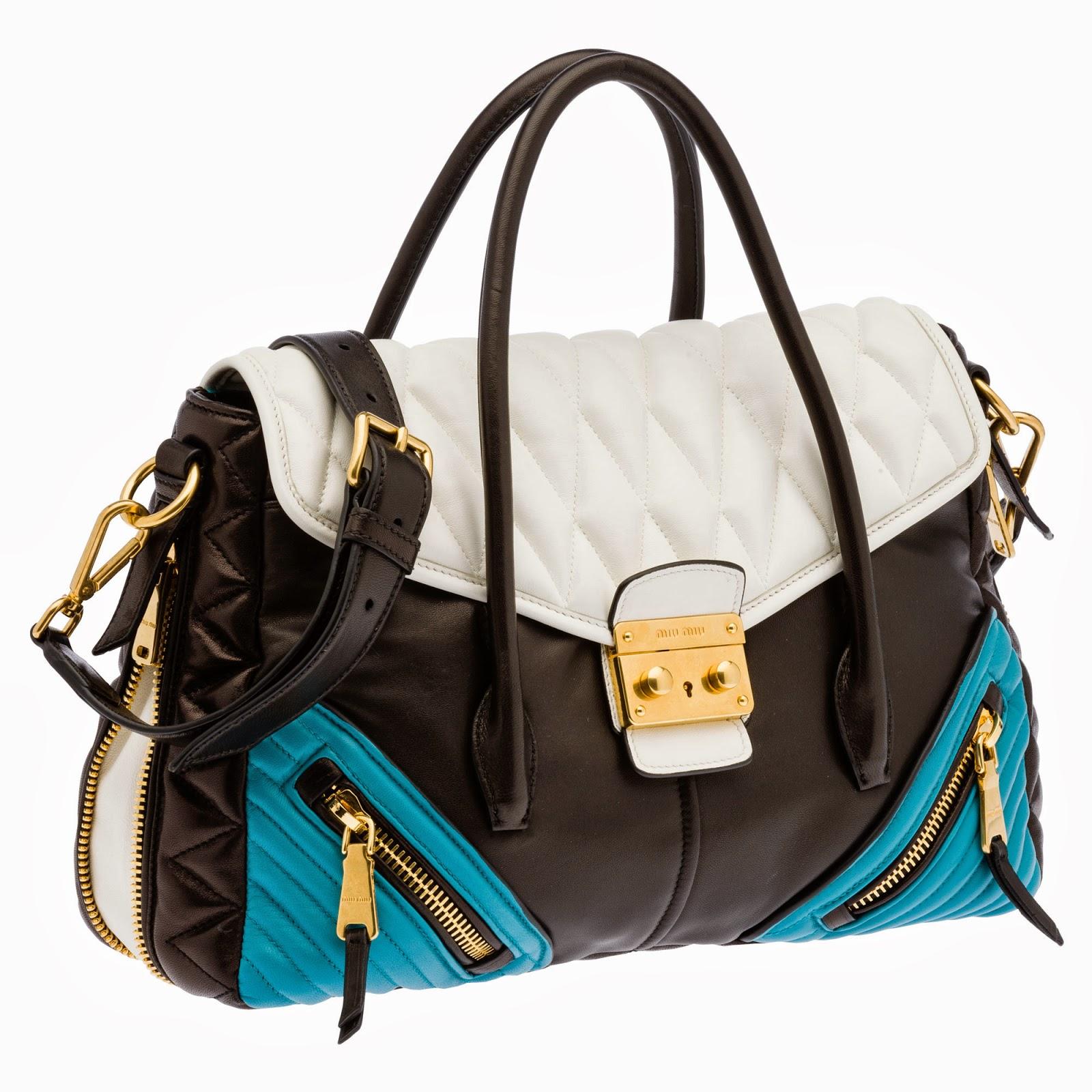 iki+renkli+%25C3%25A7anta Miu Miu Herbst Winter 2014 Handtaschen Modelle