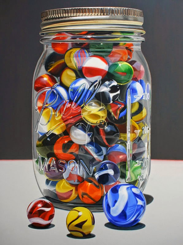 19-Marveled-Marbles-Daryl-Gortner-Reflections-in-Art-Photo-Realistic-Paintings-www-designstack-co
