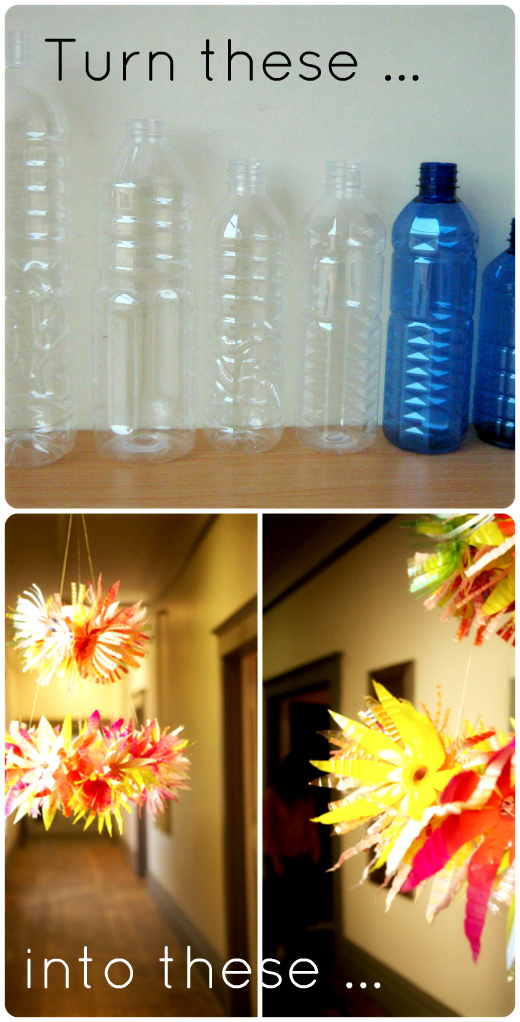 Upcycle Plastic Bottles Spring Chandelier The Refab