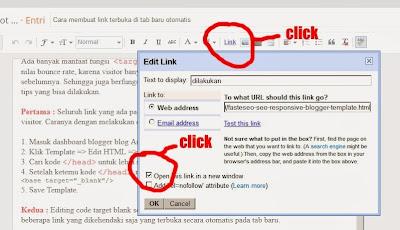 edit link di halaman postingan