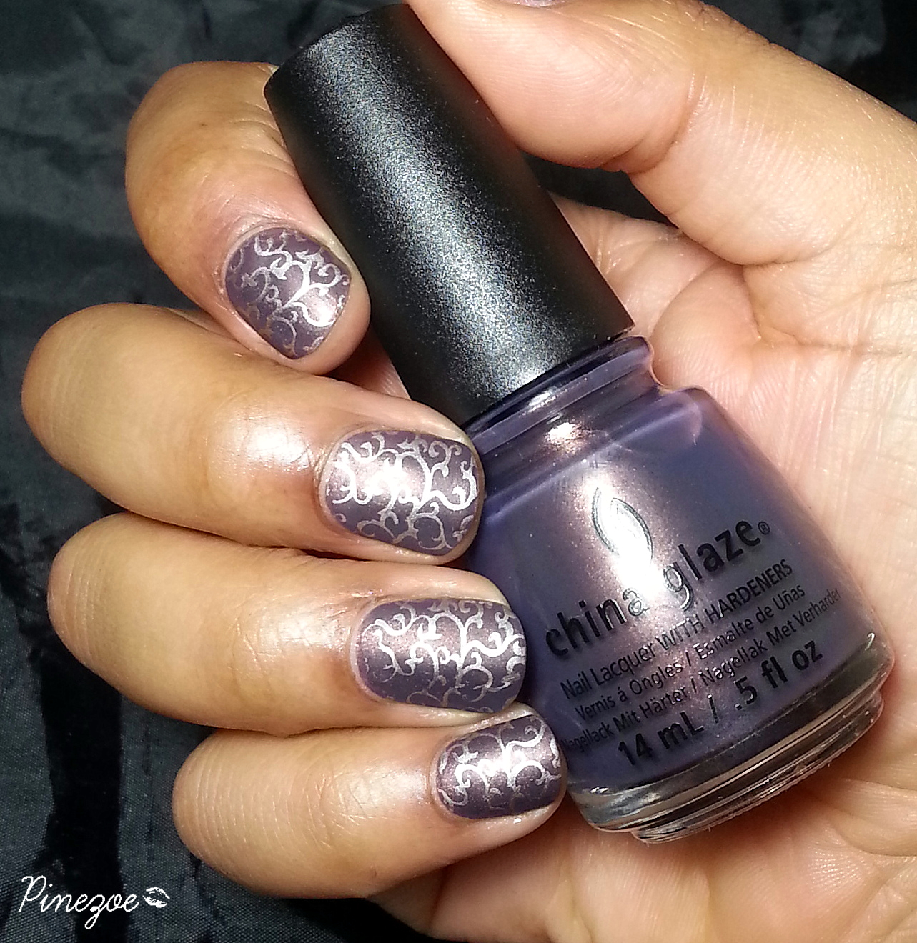 China Glaze - Choo choo choose you & stamping fleurs arabesques