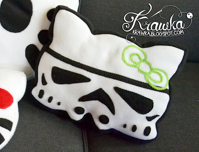 Krawka: Hello Kitty pillows - Hello Kitty, Coco Kitty and Stormtrooper Kitty