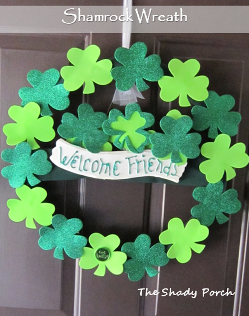 Shamrock Wreath by The Shady Porch