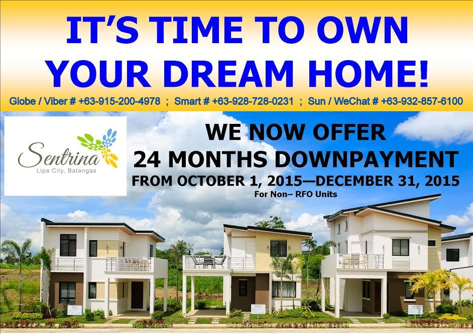SENTRINA, Lipa City Best Single Houses, Quality Wise and Very Affordable