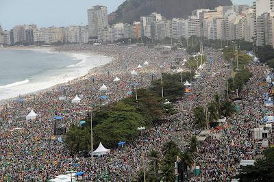 #JMJRio2013: JMJ alcança público recorde de 3,7 milhões de pessoas em Copacabana