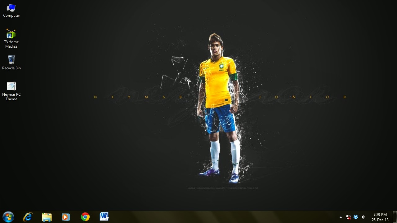 Neymar theme for Windows 7