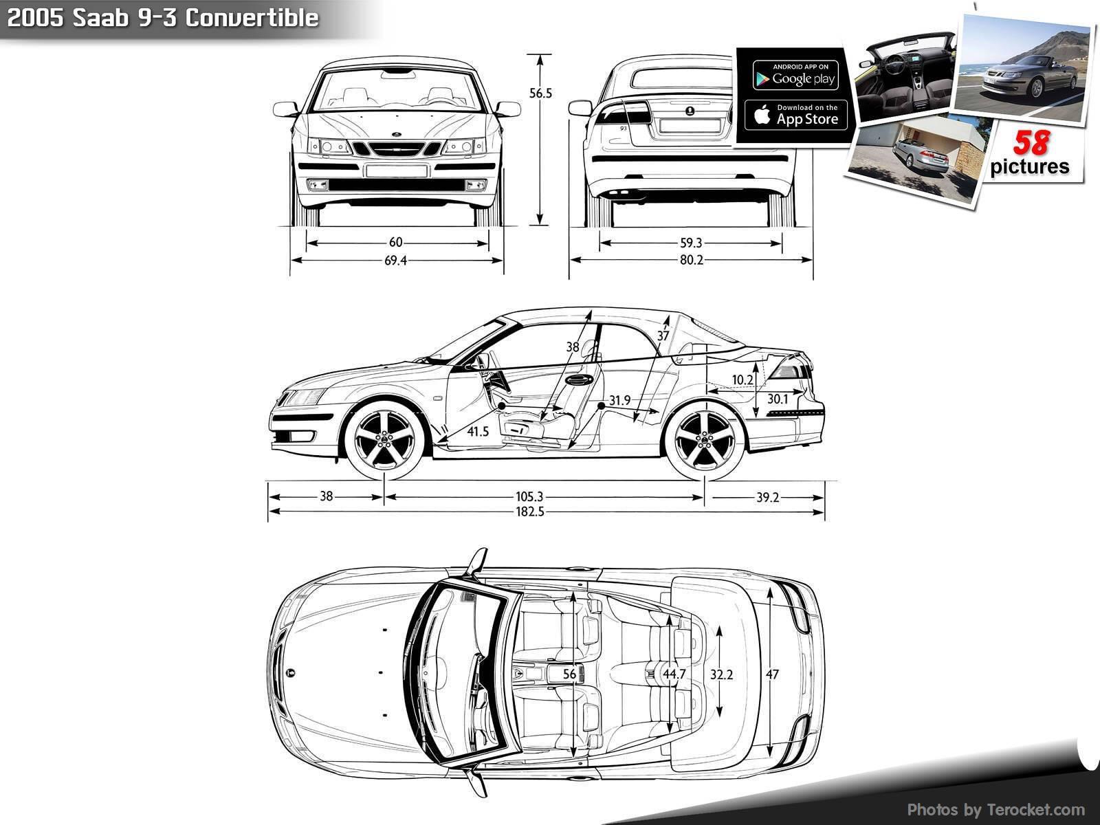 Hình ảnh xe ô tô Saab 9-3 Convertible 2005 & nội ngoại thất