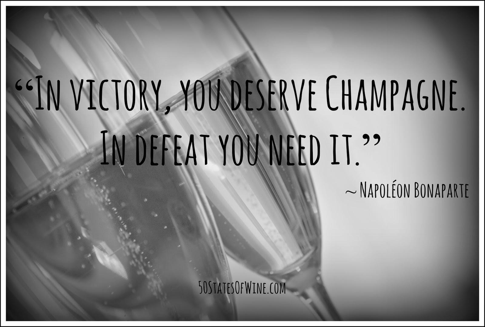 Champagne quote Napoleon