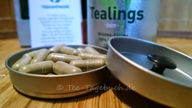 Tealings - Kapseln mit koffeinfreiem Grüntee-Extrakt