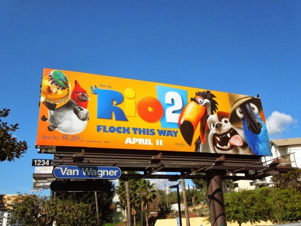 Rio 2 Flock this way movie billboard