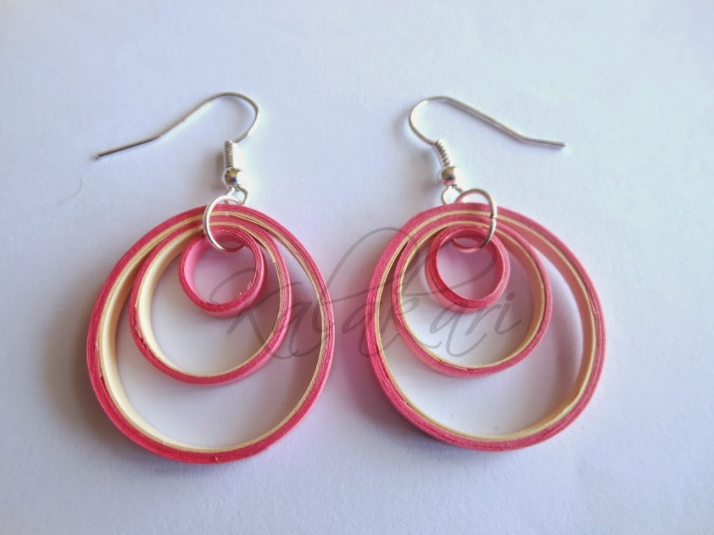 free tutorial how to make paper quilled earrings