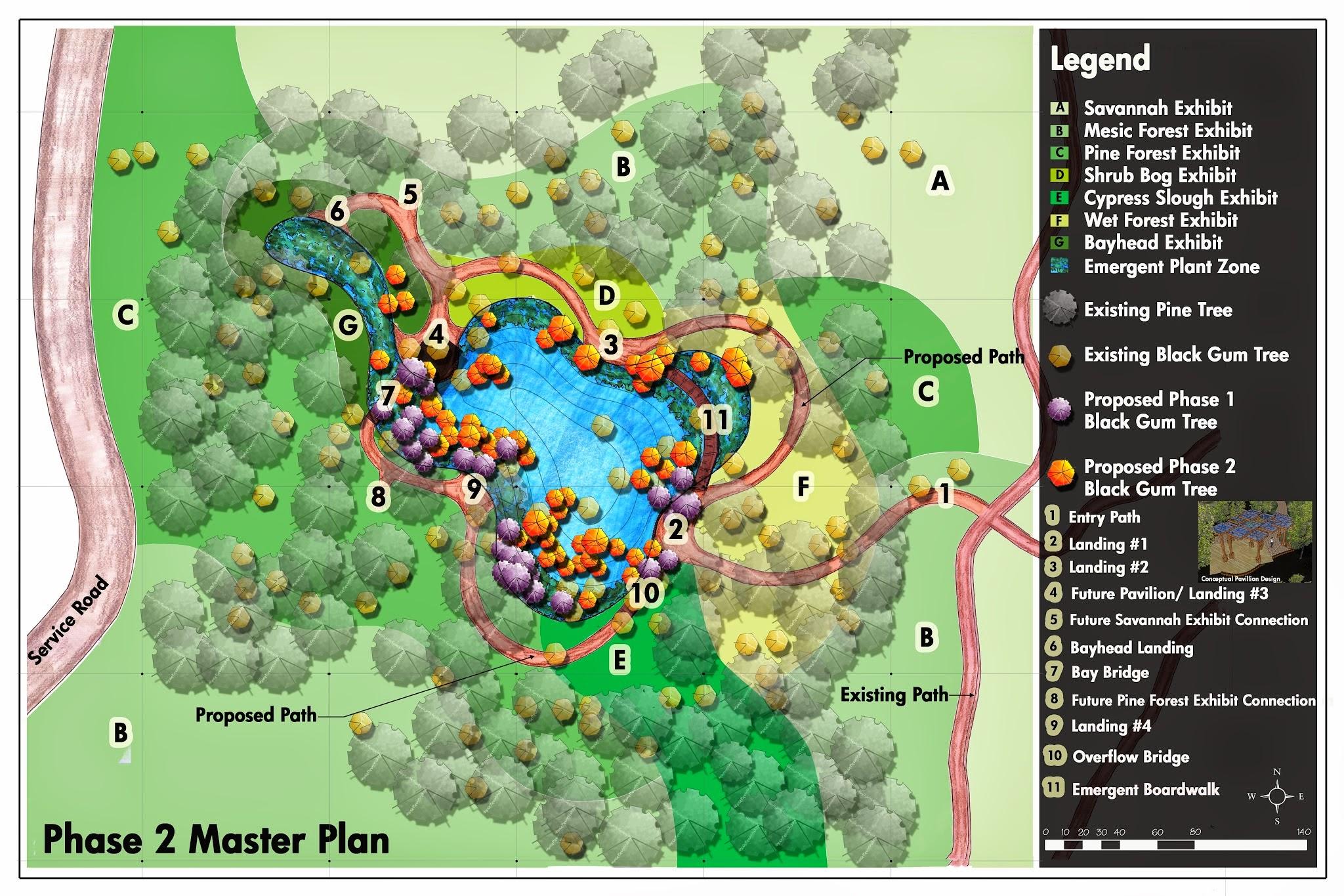 gum pond exhibit for crosby arboretum completed by prof brzuszek s landscape management seminar