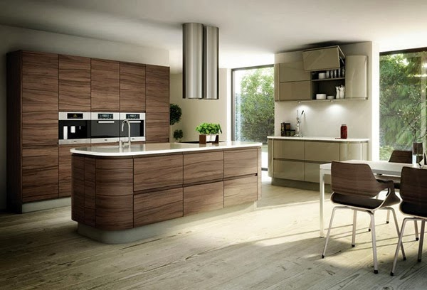 good use of color for kitchen furniture all themed wood but looks really classy this kitchen design is minimalist kitchen that can be adjusted with a - Themed Kitchen Design