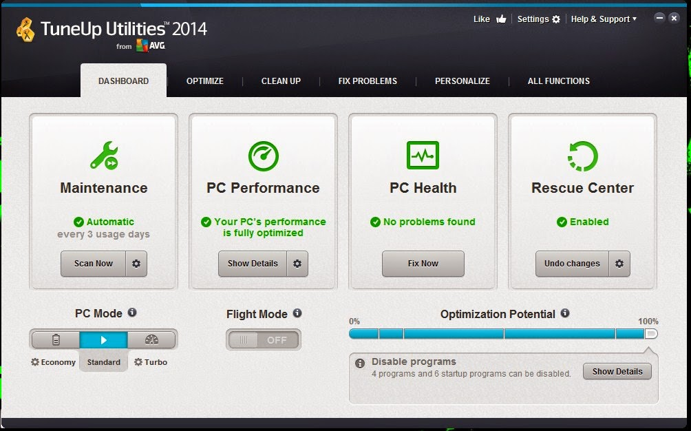 Download TuneUp Utilities 2014 Full
