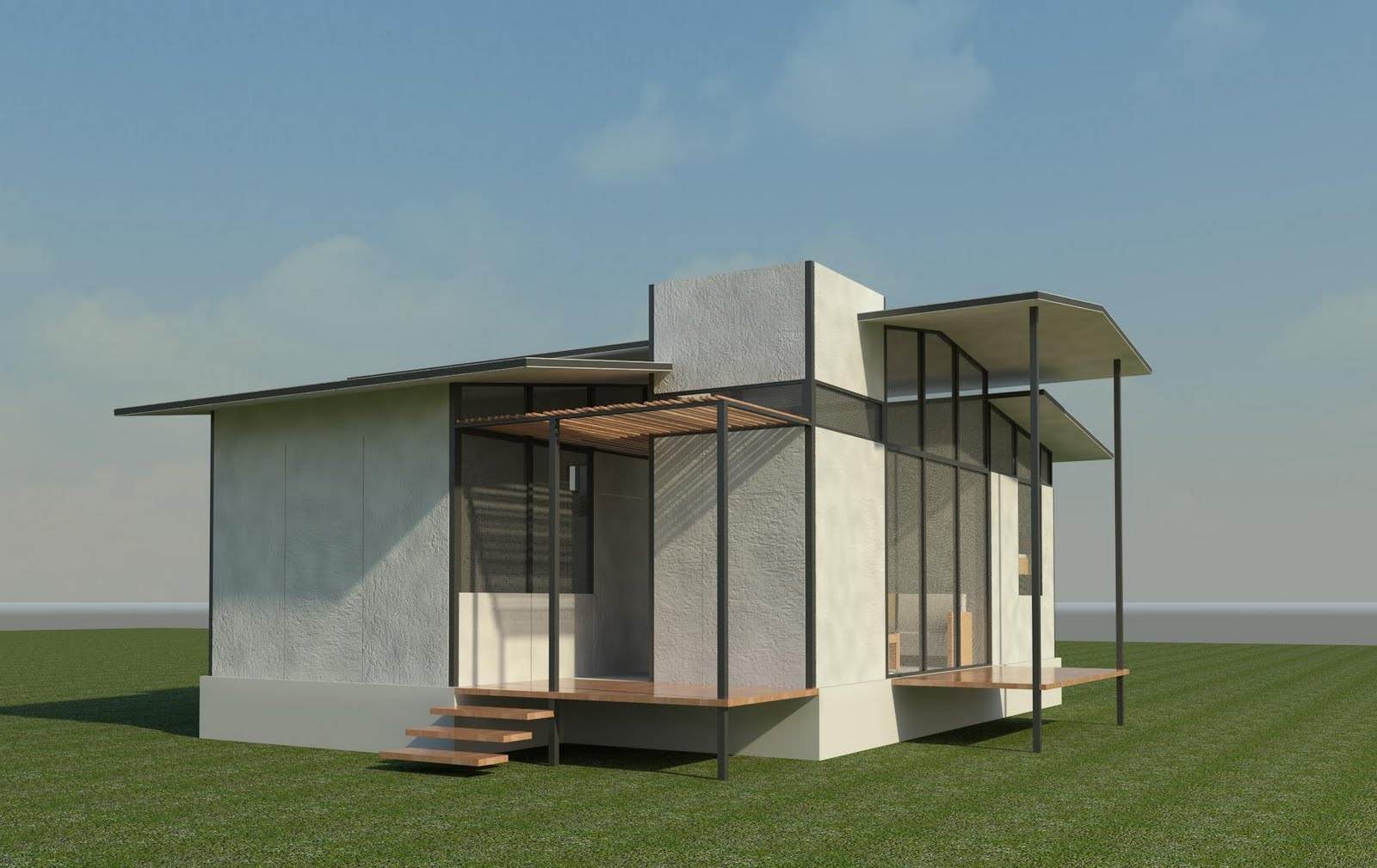 Greenvox vivienda sostenible for Estructura metalica vivienda