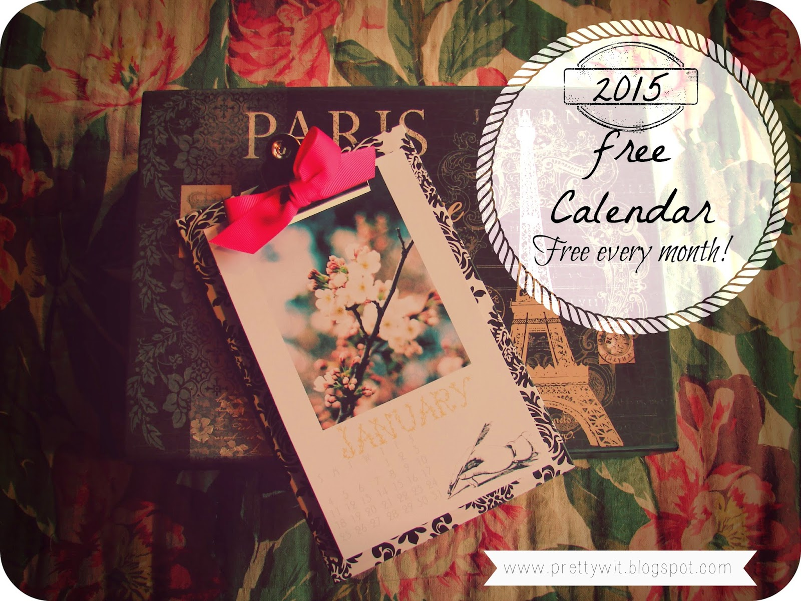 2015 Free Calendar by Pretty Wit