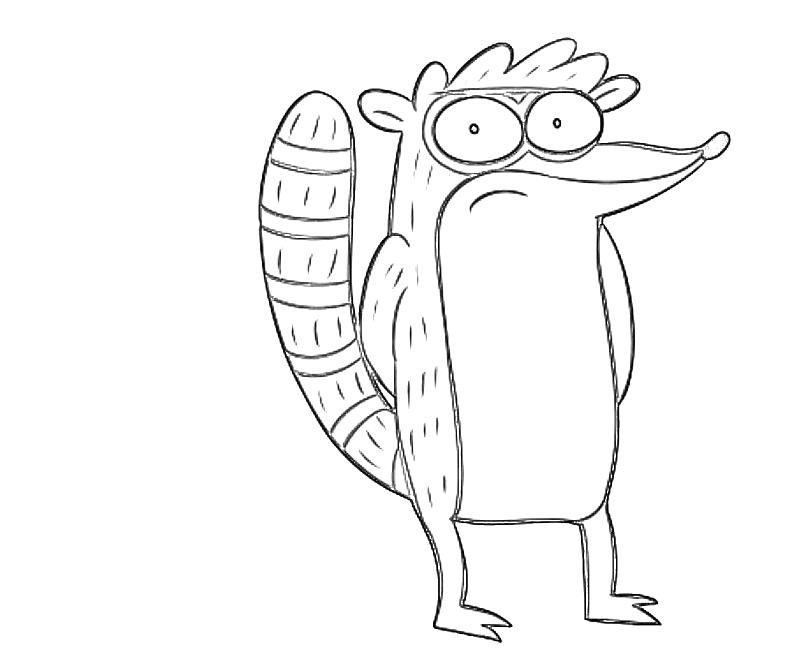 Rigby coloring pages online free