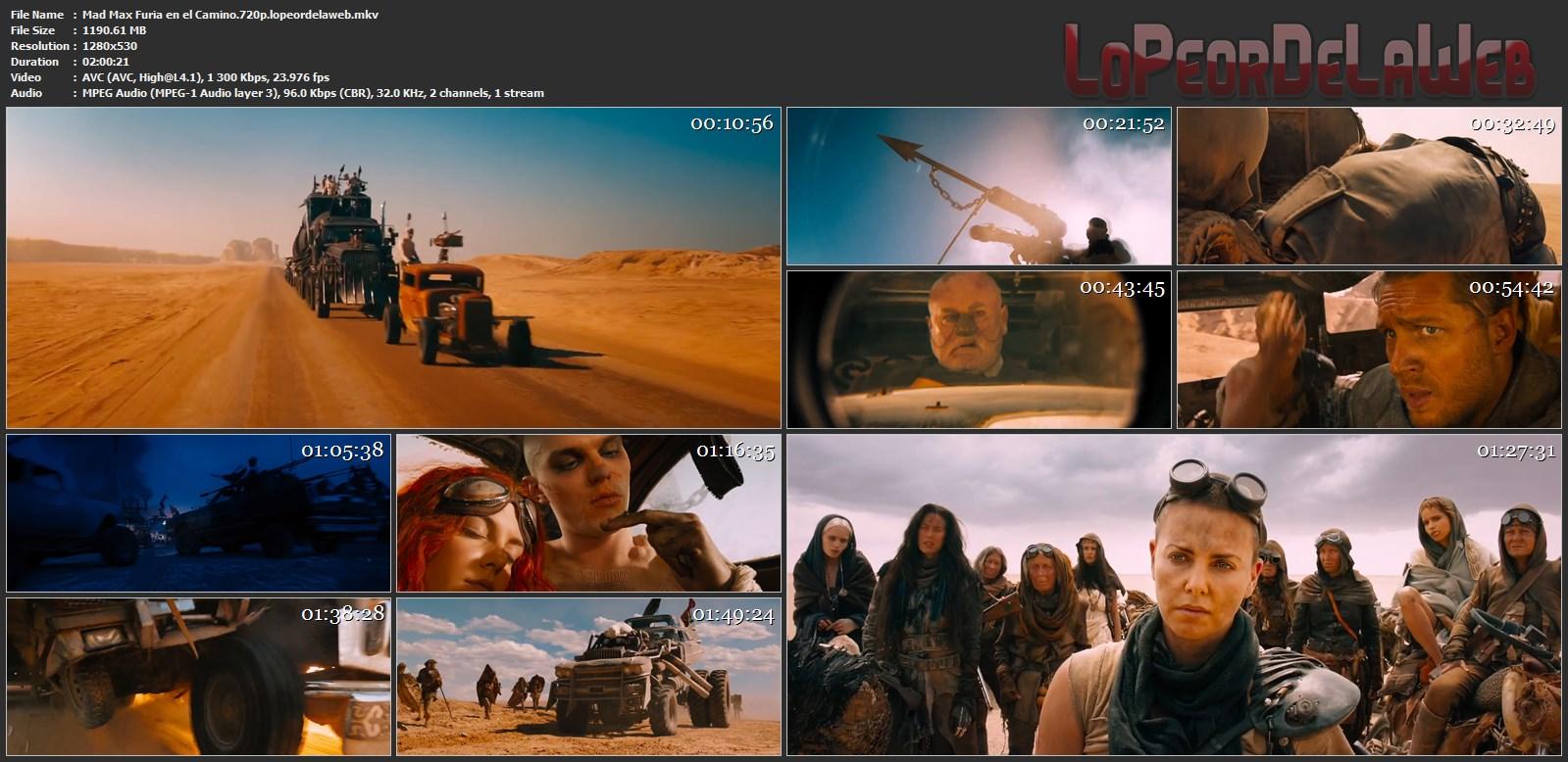 Mad Max Furia en el Camino 2015 WEB-DL 720p  Latino