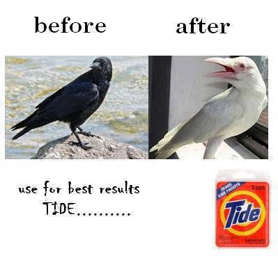 Tide Detergent - Use Tide for better results - See the change below
