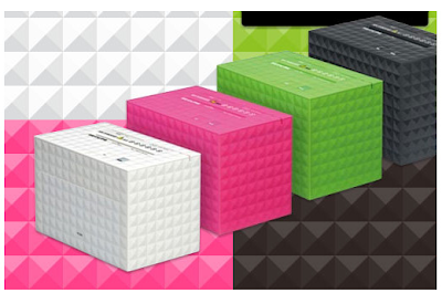 shredders in green, pink, white and black