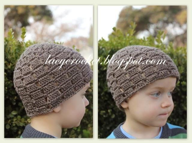 Lacy Crochet Crochet Blocks Toddler Beanie Free Pattern