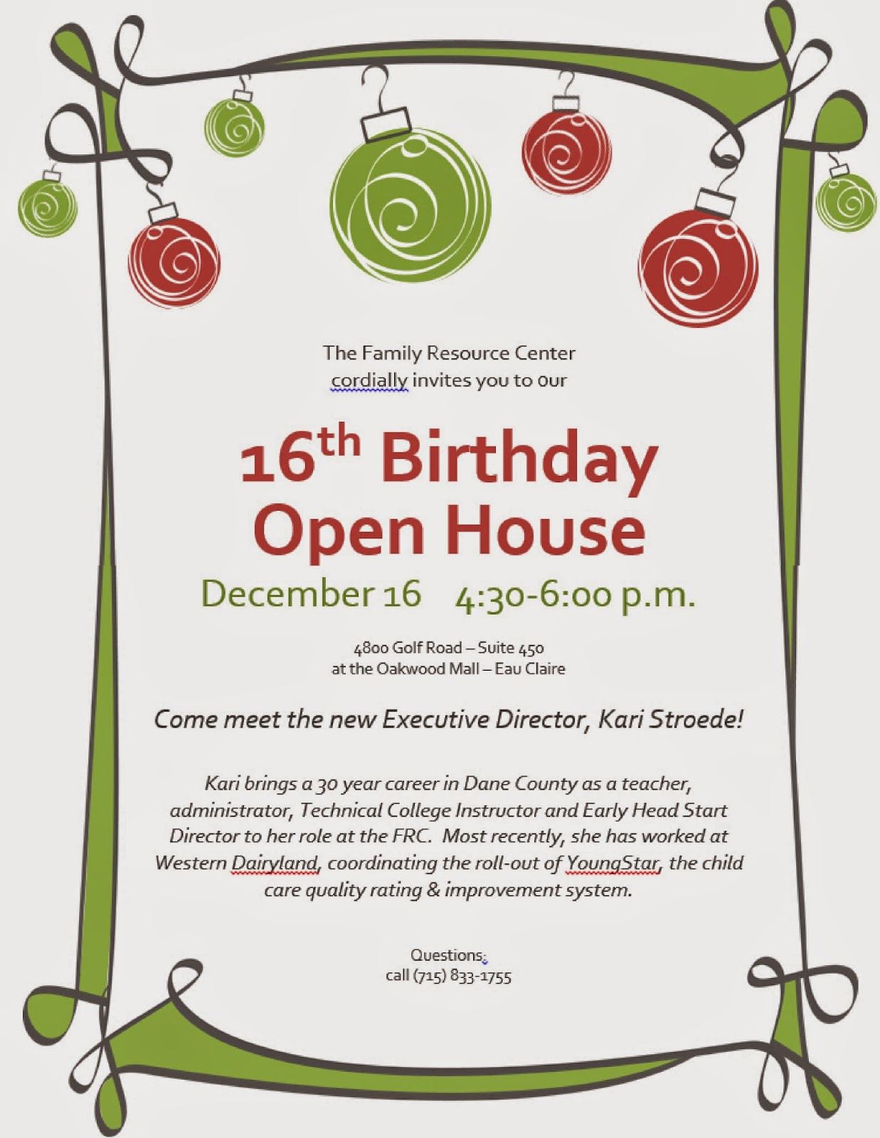 Family Resource Center for Eau Claire County, Inc.: December 2014