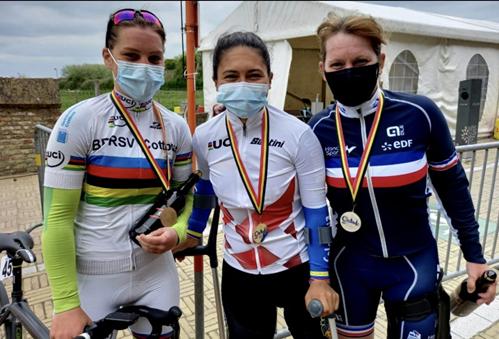 Carolina Munévar, bicampeona en la Copa Mundo de Paracycling