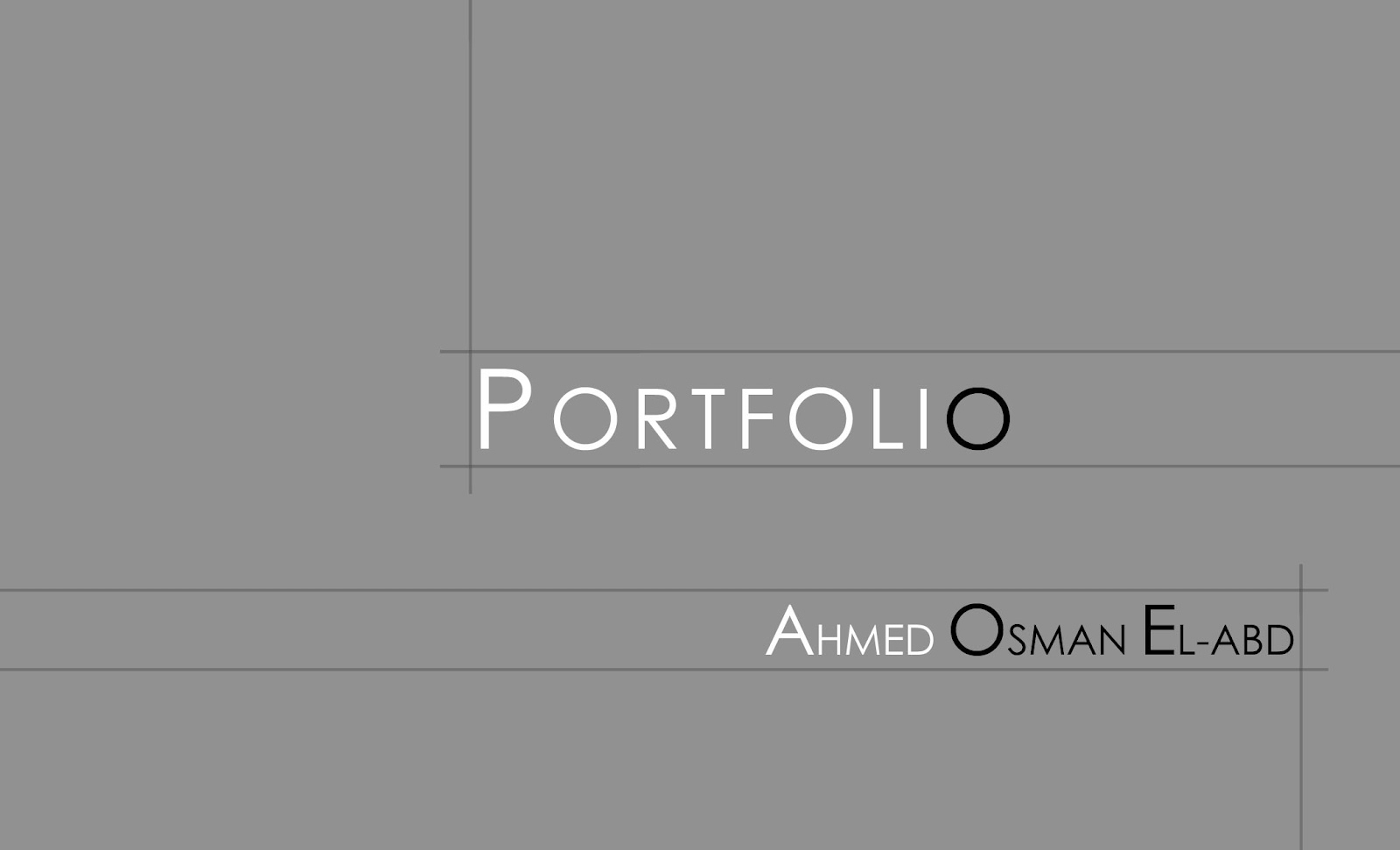 ahmed osman portfolio. Black Bedroom Furniture Sets. Home Design Ideas