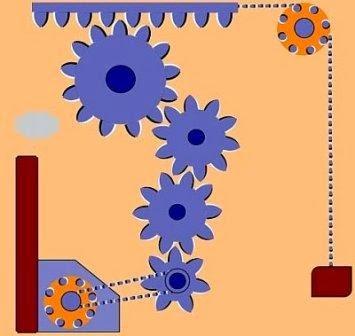 ilusiones opticas, movimiento, maquina y engranajes, máquina y engranajes moviéndose, efectos visuales, ilusiones ópticas, efecto de la maquinaria que se mueve, poleas que se mueven,