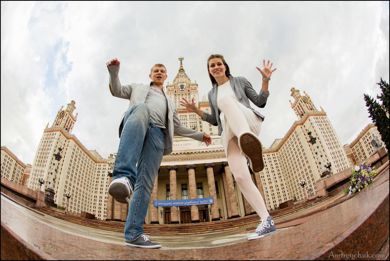свадебная фотосессия у здания МГУ