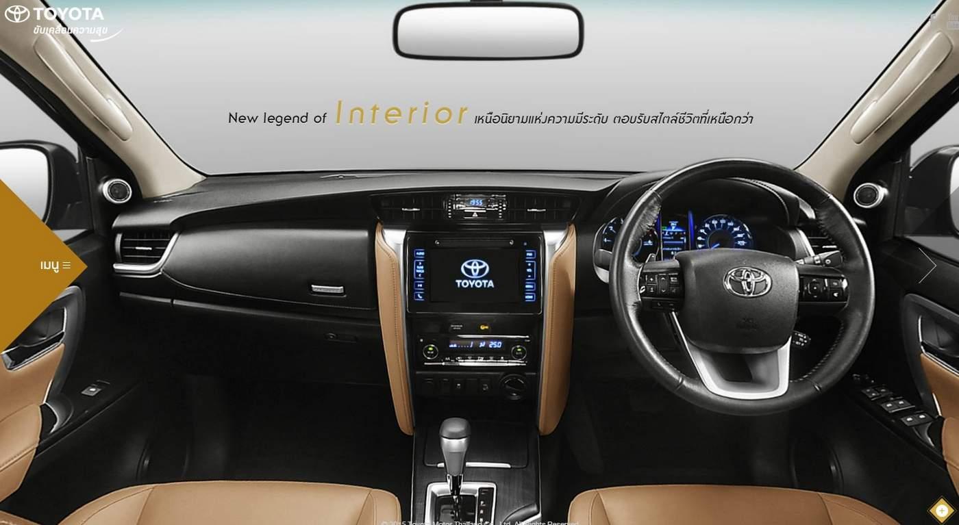Toyota Hilux SW4 2016: detalhes adicionais do interior | CAR.BLOG.BR