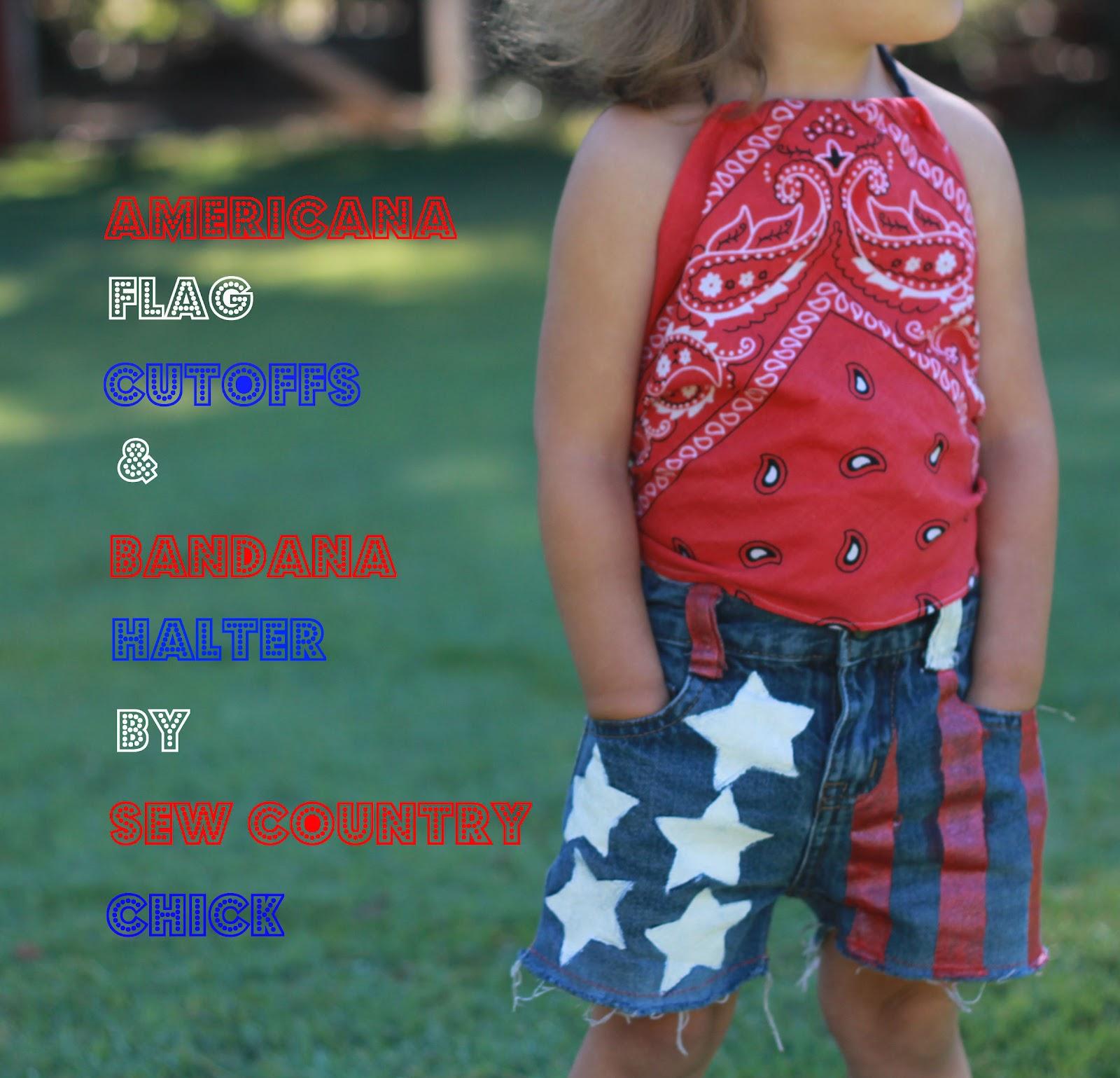 American flag cutoffs bandana halter top tutorial baditri Gallery