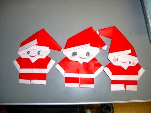 Make a tiny origami santa diy crafts for Make origami santa claus