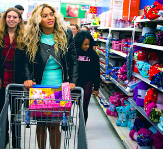Beyonce at Walmart image from Bobby Owsinski's Music 3.0 blog