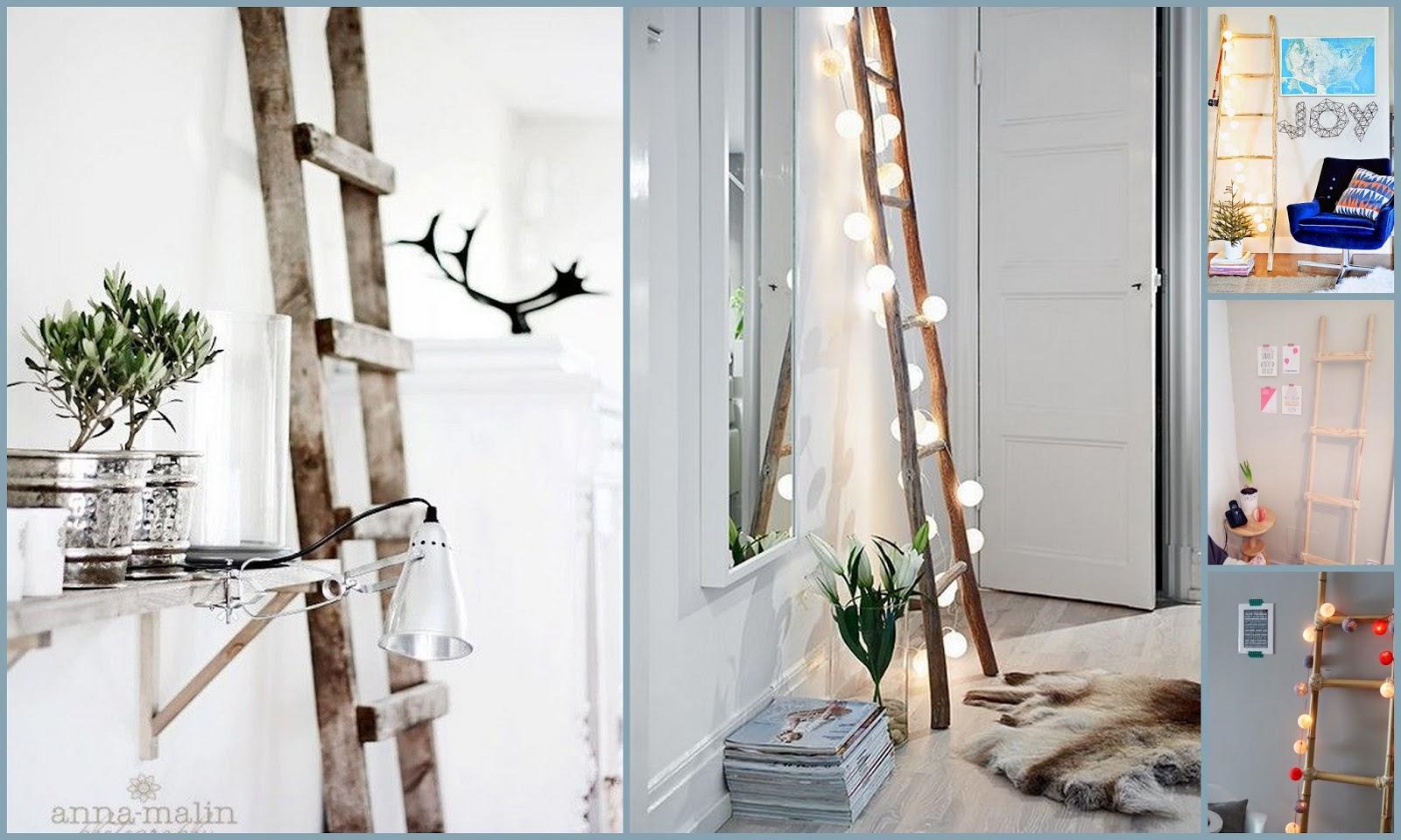 Dolce hogar 15 diy escalera de mano parte 2 - Escaleras de madera decorativas ...