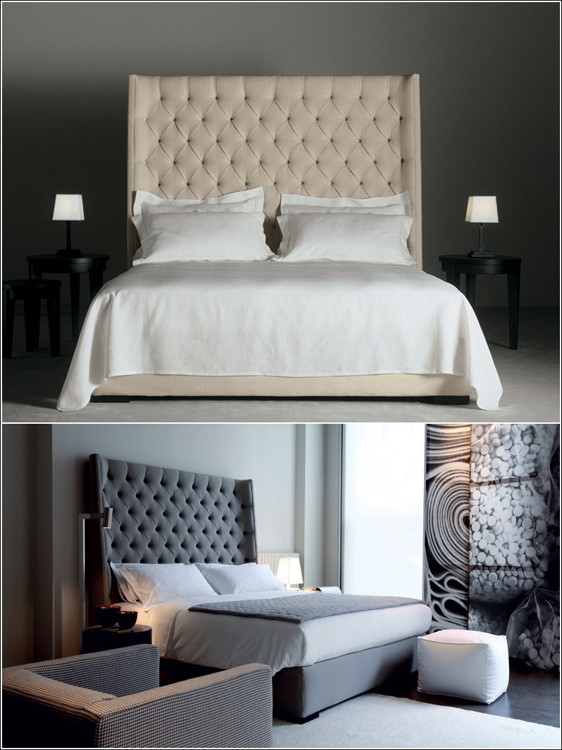 Lits rembourr s pour un look chic votre chambre for Chambre chic moderne