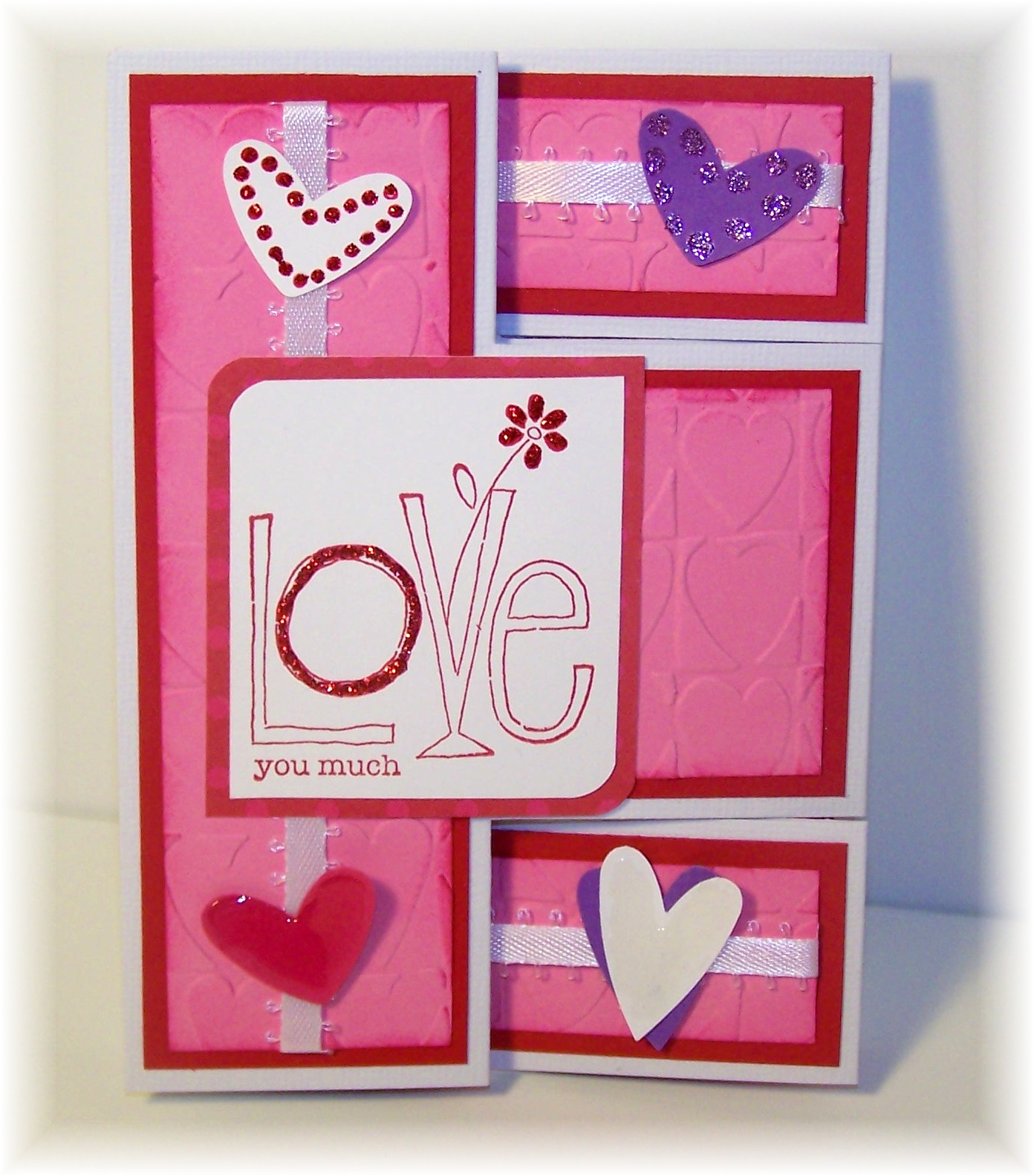 Grammies craft room today is the lots of love blog hop for Stampin pretty craft room