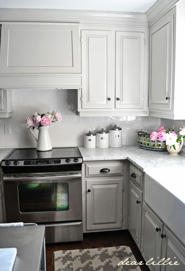 painted gray kitchen cabinetsDear Lillie Our Kitchen Makeover Before and Afters and a Full