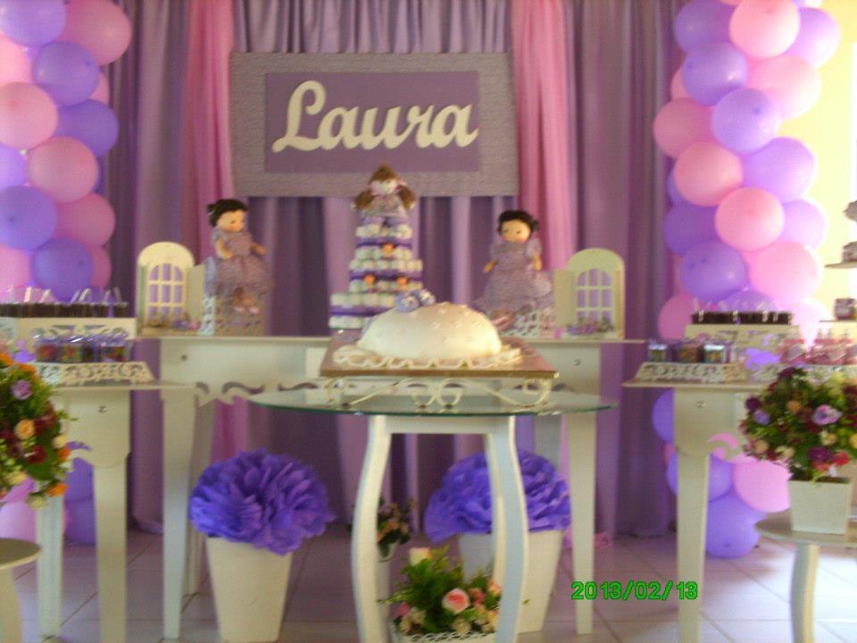 Decoração de Festas Chá de Bebê Lilas e Rosa