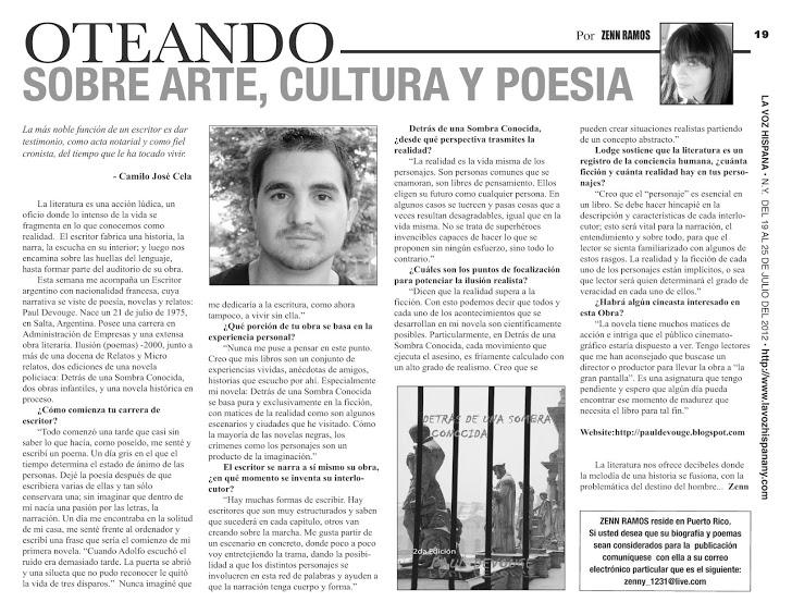 Entrevista La voz Hispana NY