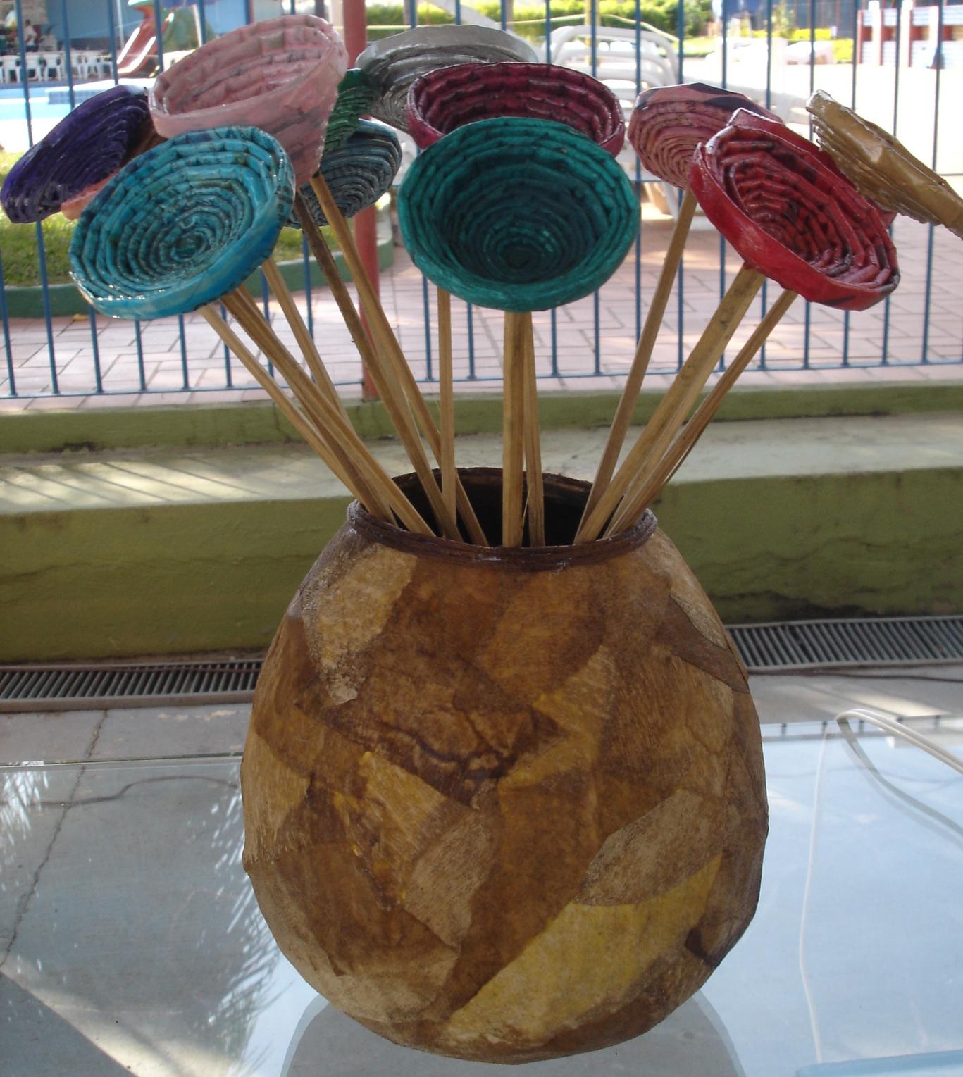 Adesivo Para Levantar Mama Onde Comprar ~ ReSignificArt Artesanato Reciclável Flores (Flores de