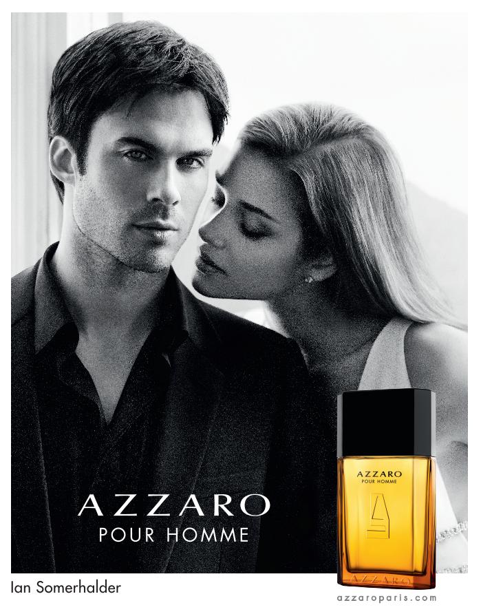 Ian Somerhalder est le nouveau visage du parfum Azzaro Pour Homme