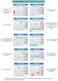 Calendario Escolar 2018-19                                                       MÁLAGA