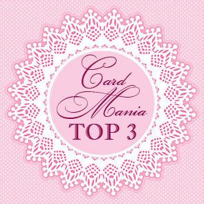 Аз съм в ТОП 3 на Card Mania Challenges - Перли и завъртулки