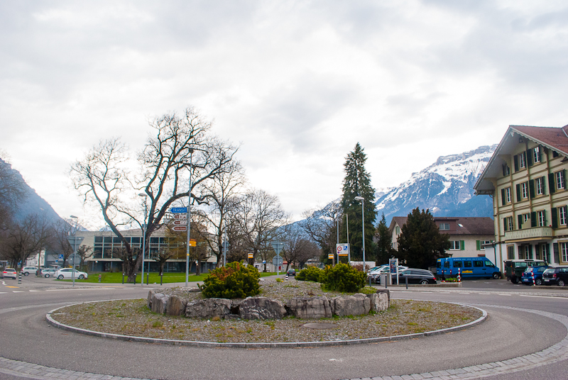 mountains in the background everywhere in interlaken