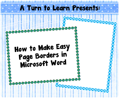 Classroom Freebies How to Make Easy Page Borders in Microsoft Word – Word Templates Borders