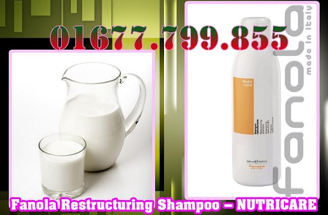 Dầu Gội Fanola Nutricare chiết xuất từ sữa cải thiện mái tóc hư tổn