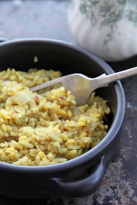 Aromatyczny ryż z soczewicą